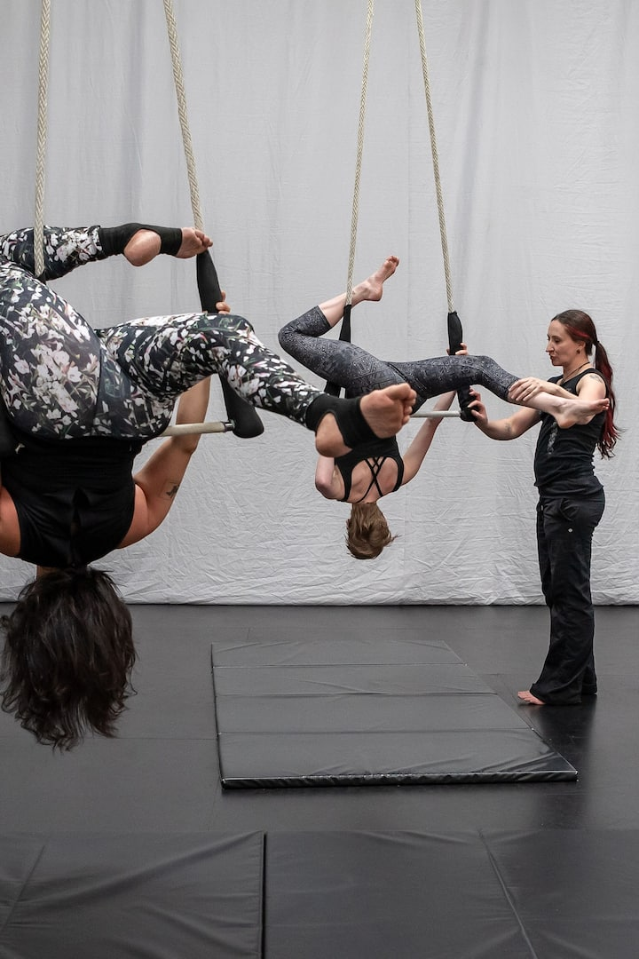 Students on Dance Trapeze