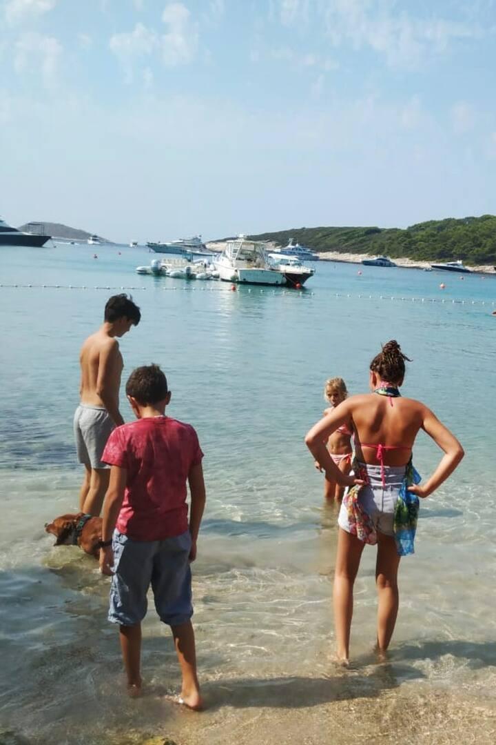 sandy beach - Palmizana