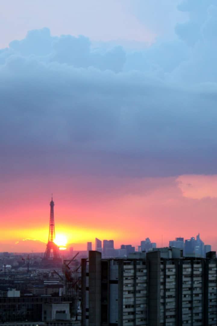 Wonderfull view over Paris