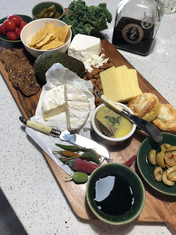 Cheese and pate country board