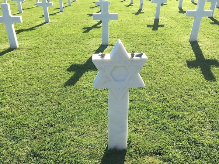 US Military Cemetery above Omaha Beach