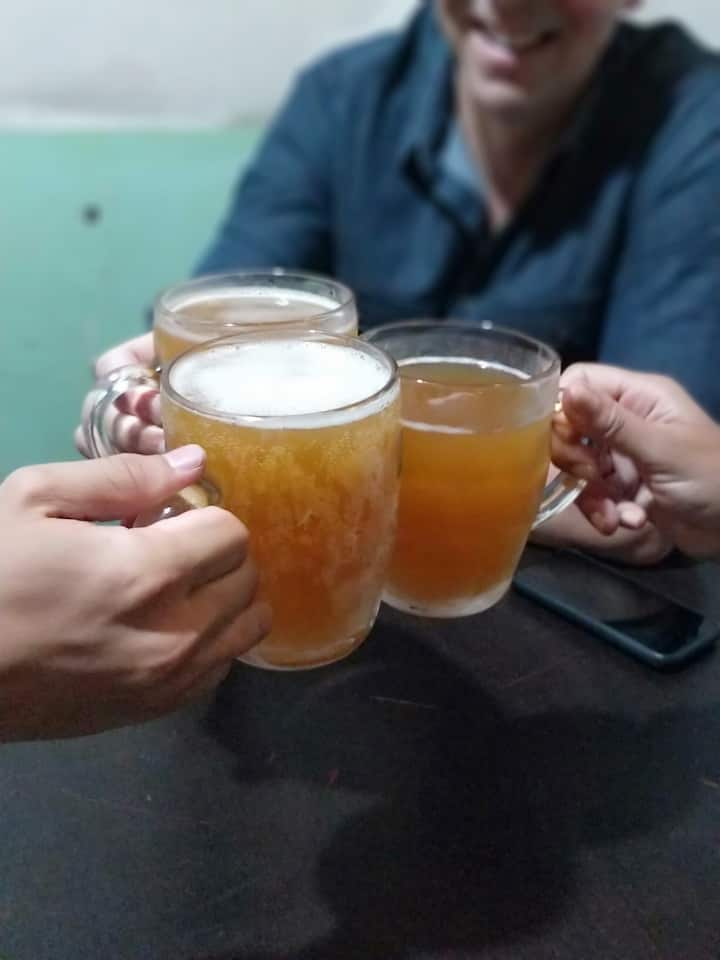 Local home-made beer
