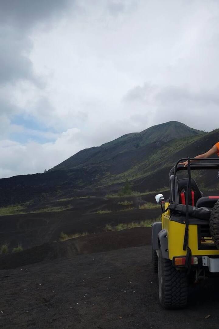 Black lava panorama view
