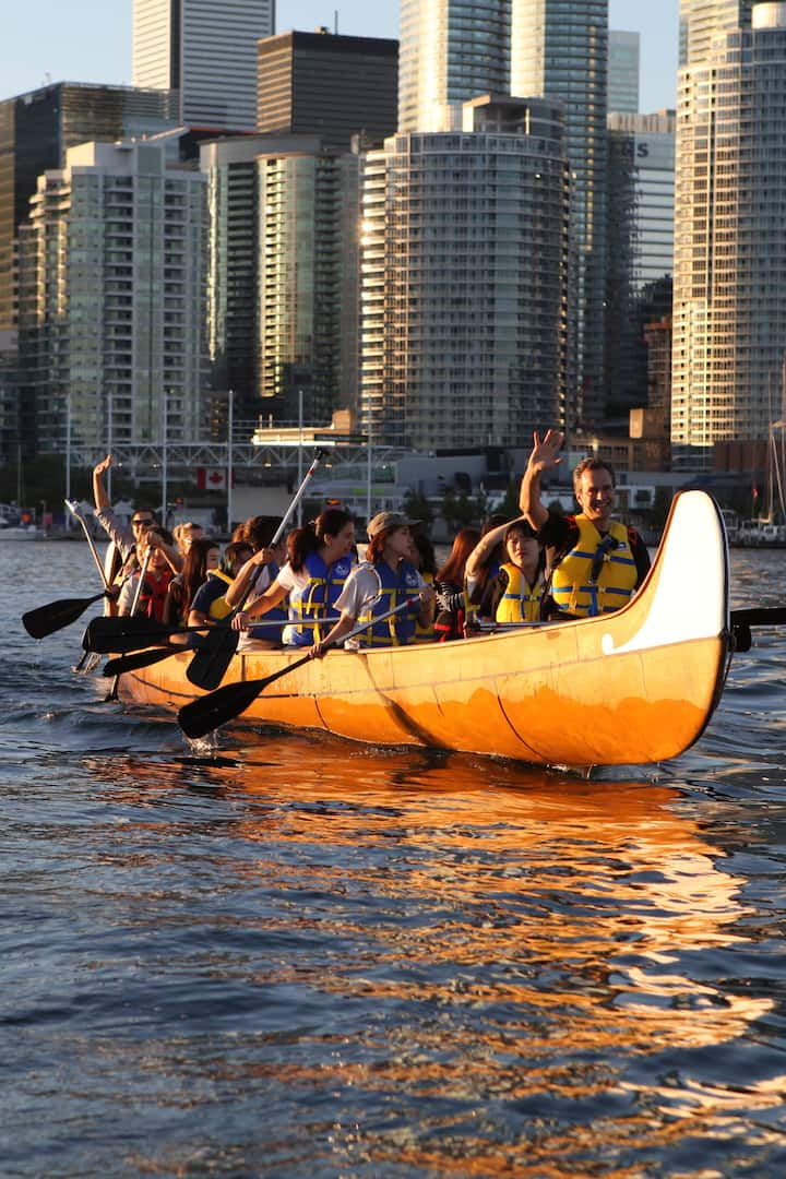 paddling with Toronto as a backdrop