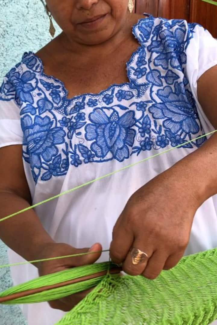 Weaving hammock Mayan way of life