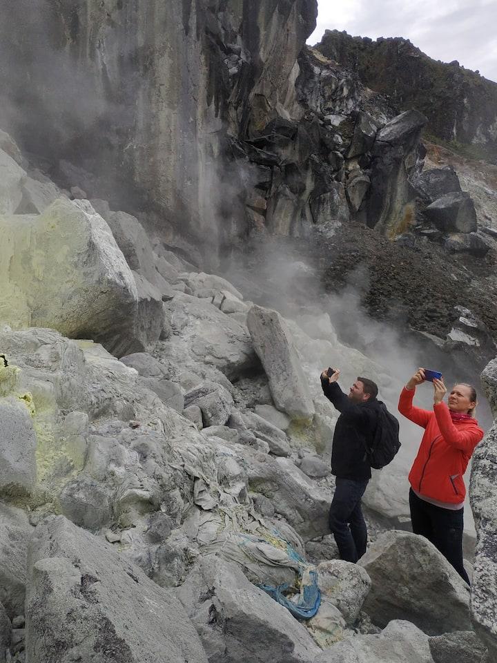 SULFUR from Mount Sibayak