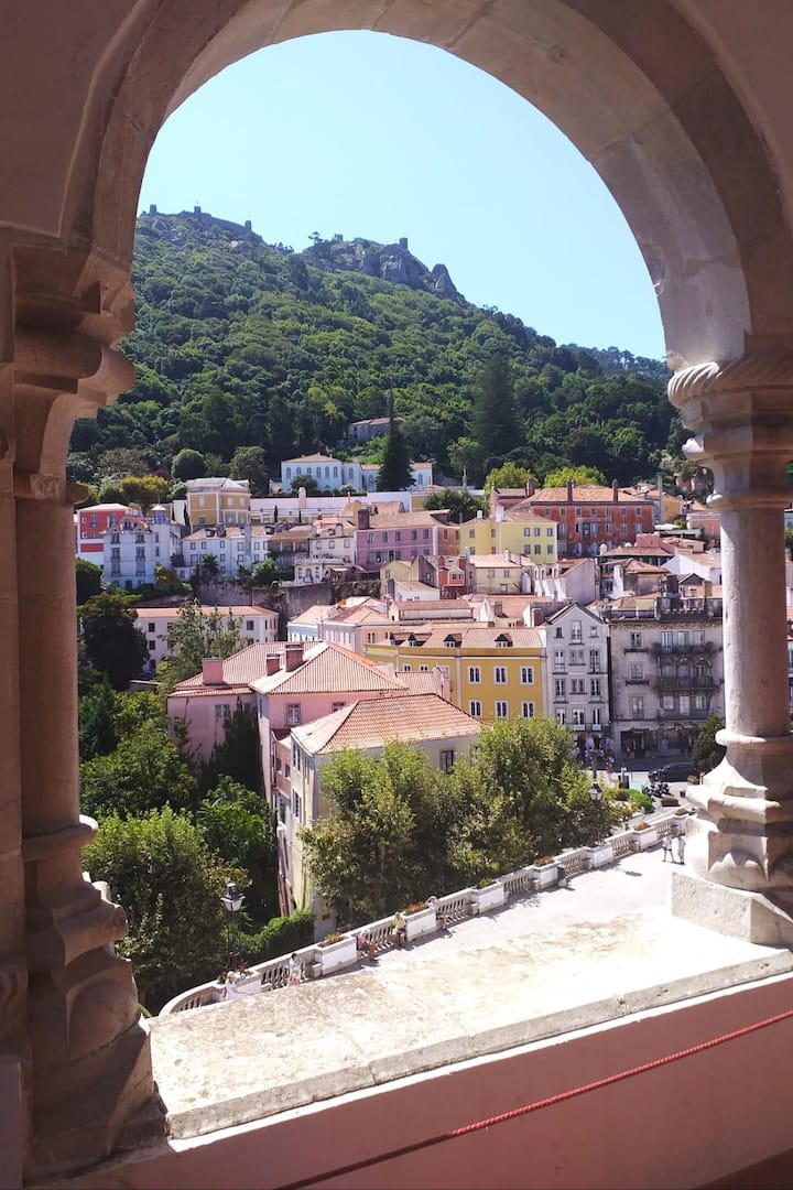 View to Sintra  from Sintra N. Palace