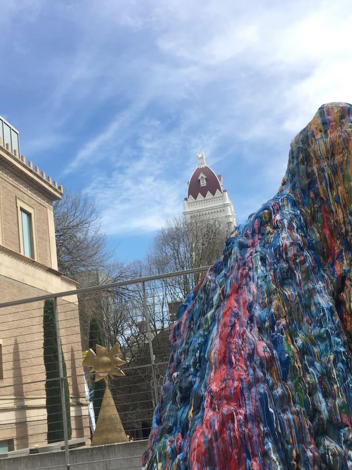 The center of fine arts in Portland