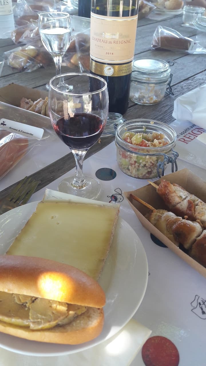 Yum ! Freshly made lunch at the winery