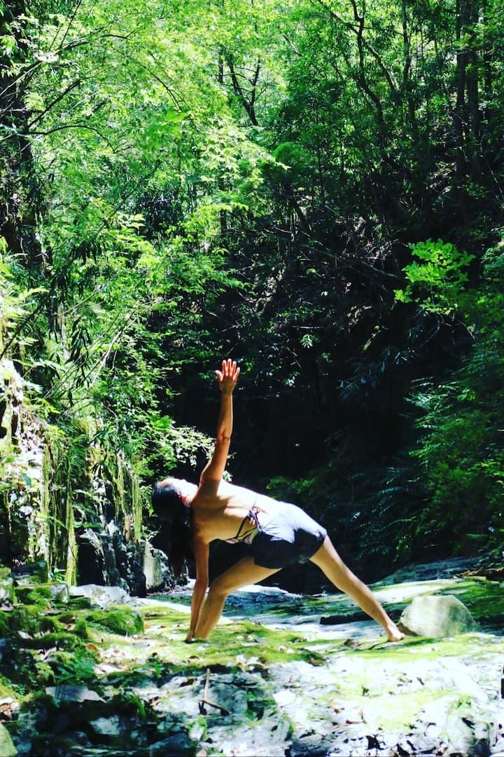 Yoga at beautiful location
