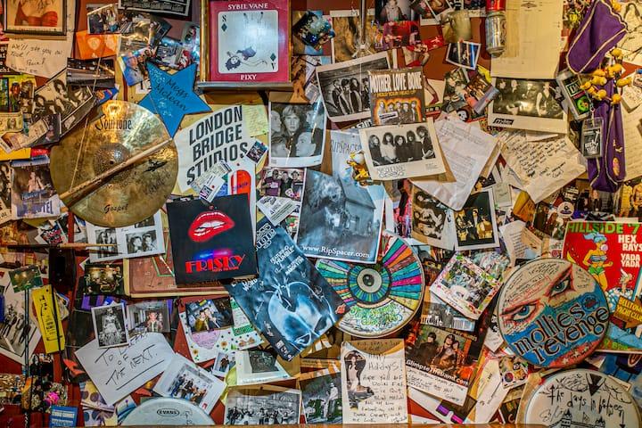 The historic  'scrap book wall'