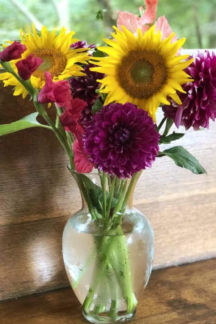 Linda's flowers.