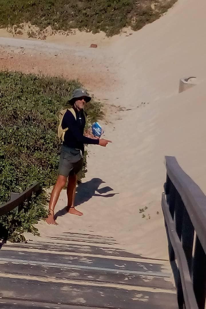 Dieter showing seasonal Dune Movement