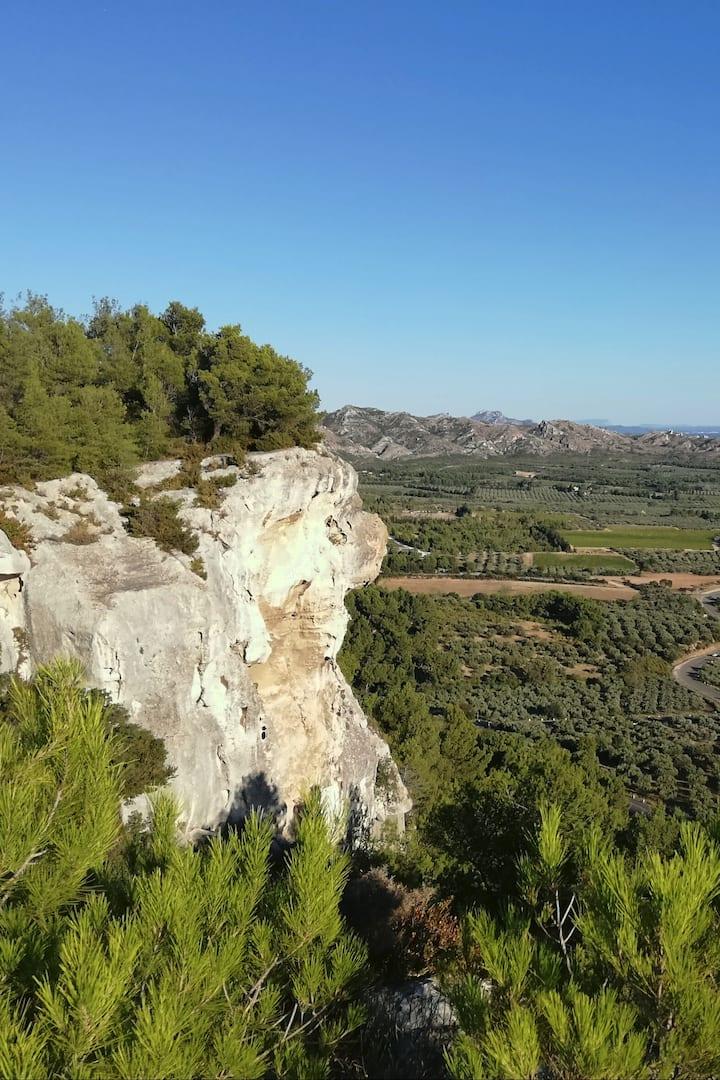Vue sud des Baux de Provence