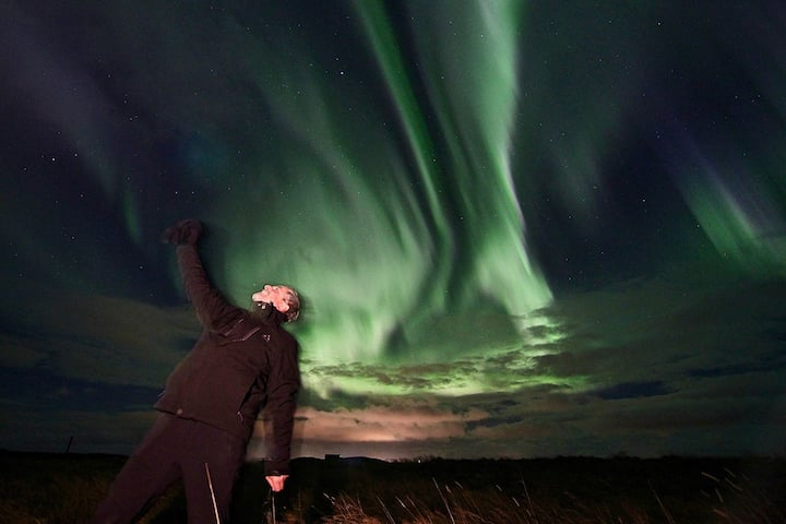One happy Northern Lights observer