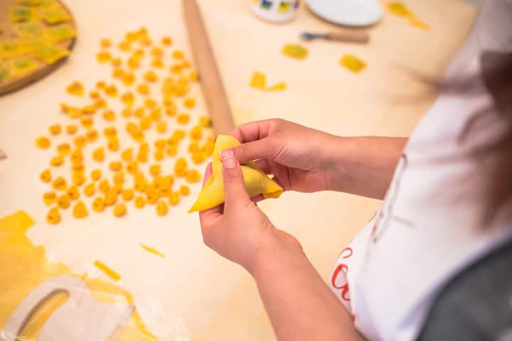 Making Pasta shape