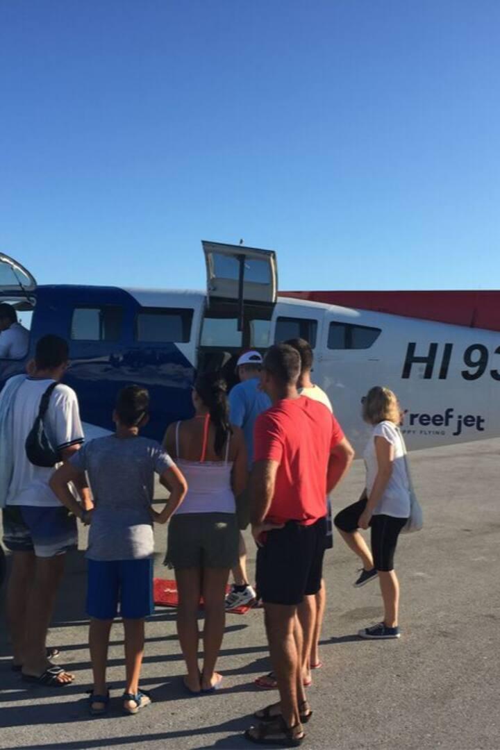 Boarding the Island Hopper