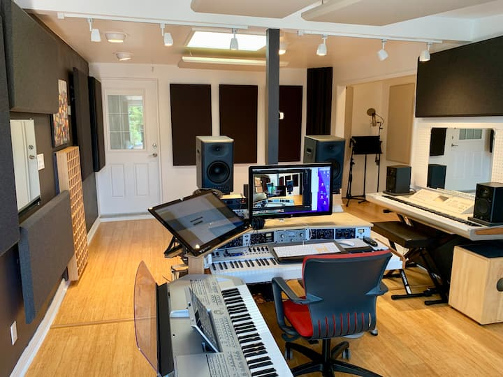 View of the remodeled  studio