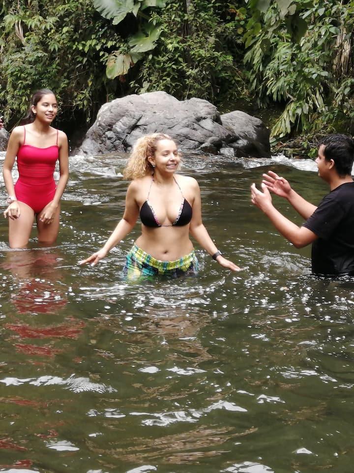 Delicioso Baño en el rio