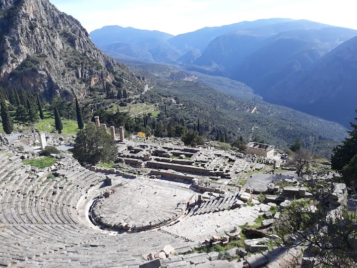 View from the teather at Apollo temple
