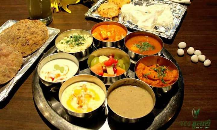 Enjoy traditional vegetarian meal