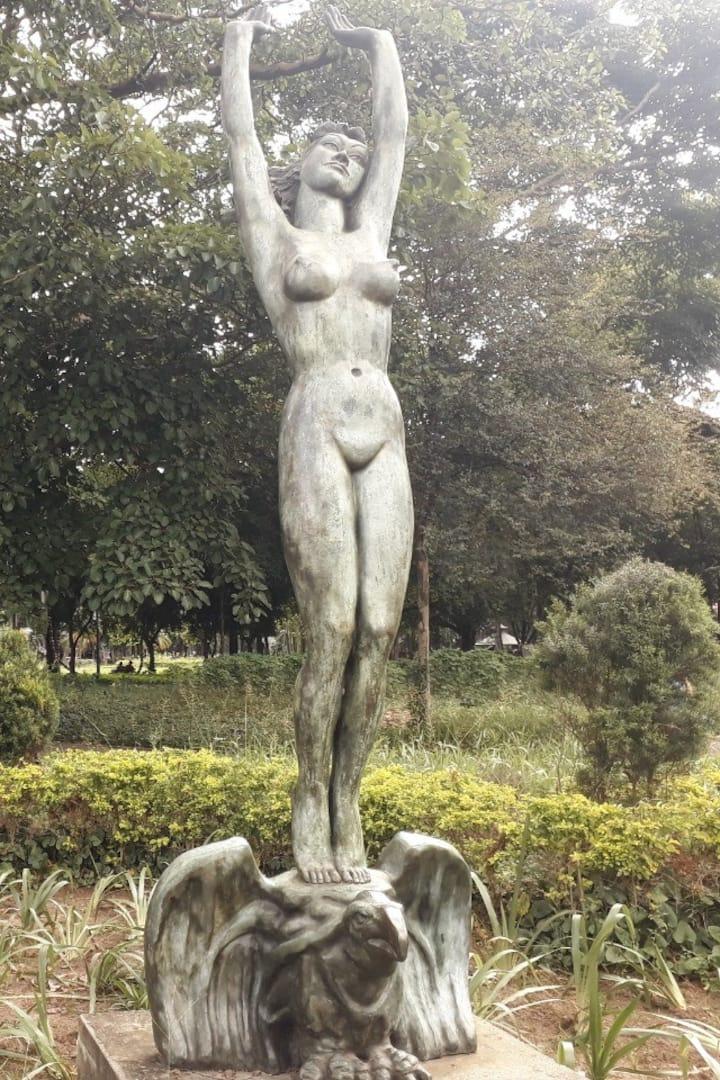 Escultura do acervo da Pinacoteca