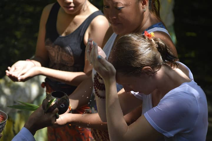 Water blessing purification with Shaman