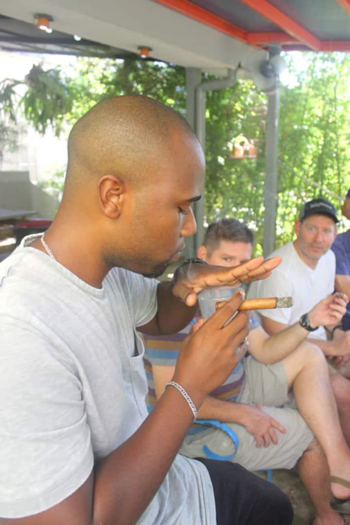 Cigar tricks with rum