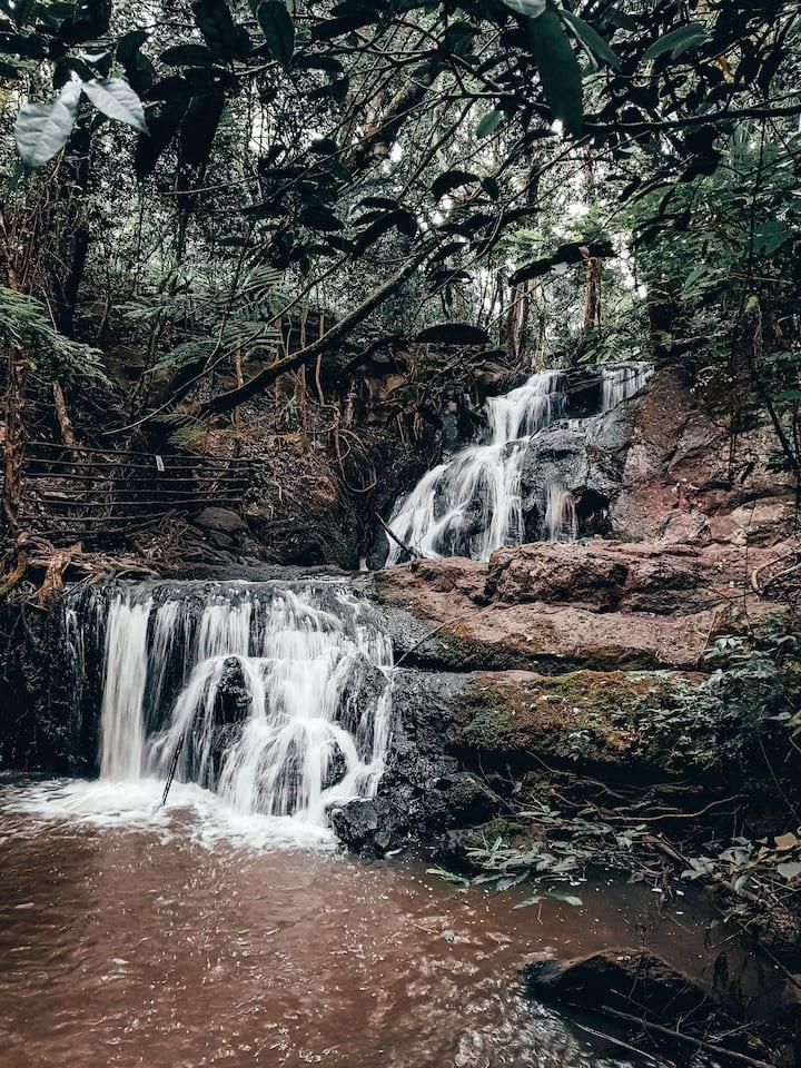 Beautiful waterfalls at Ololua-Ngong.