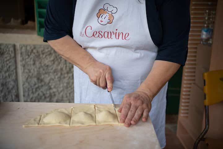 "Cutting the ""Ravioli"" shape"