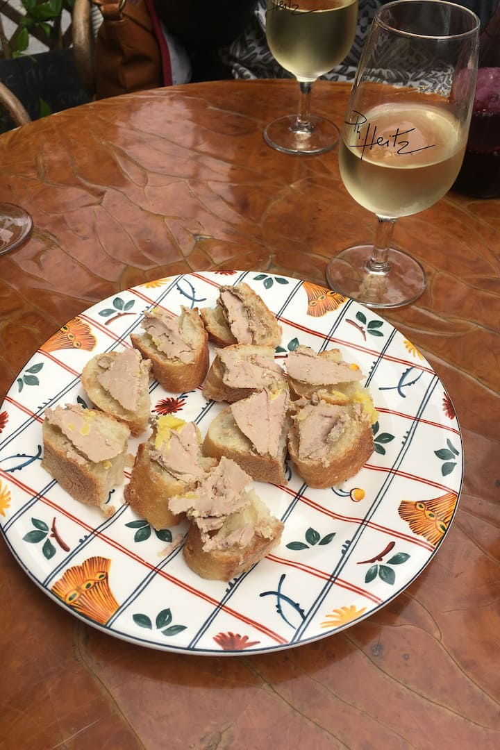 Foie Gras and wine