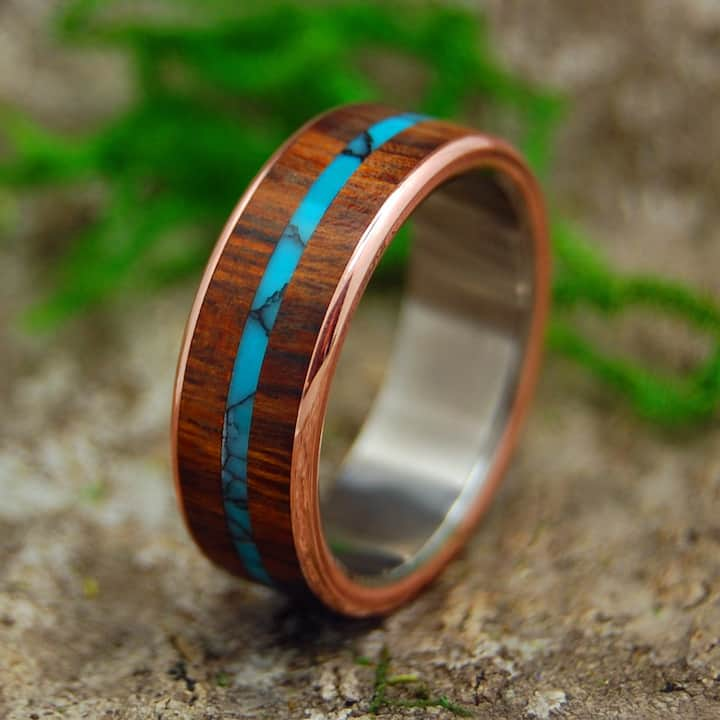 Desert Ironwood, copper and turquoise