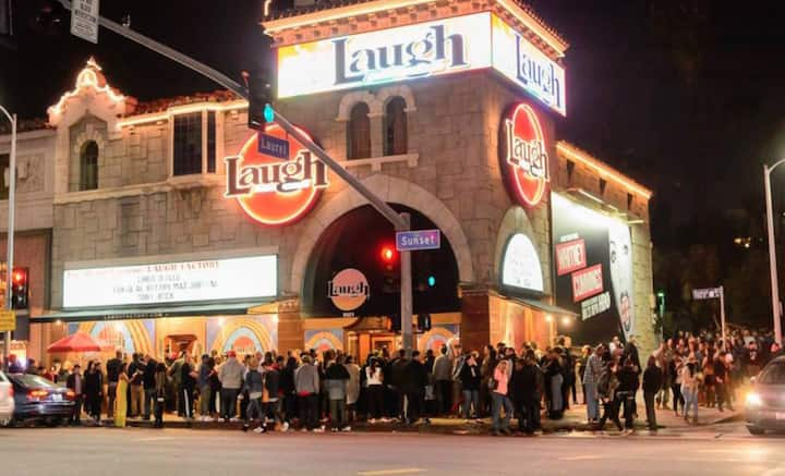Laugh Factory on Sunset Blvd