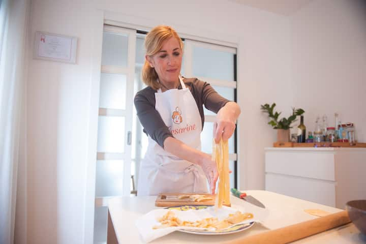 Showing how to make Pasta