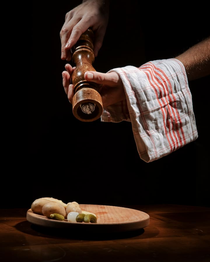 The raclette is served with passion