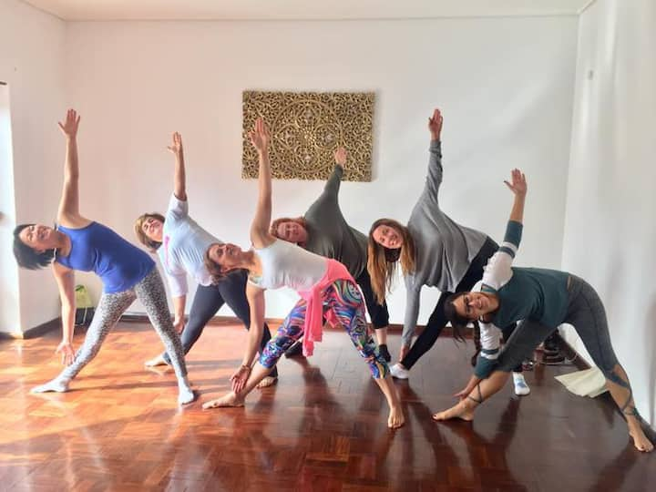 Navina OM teaching Yoga at House of Zen