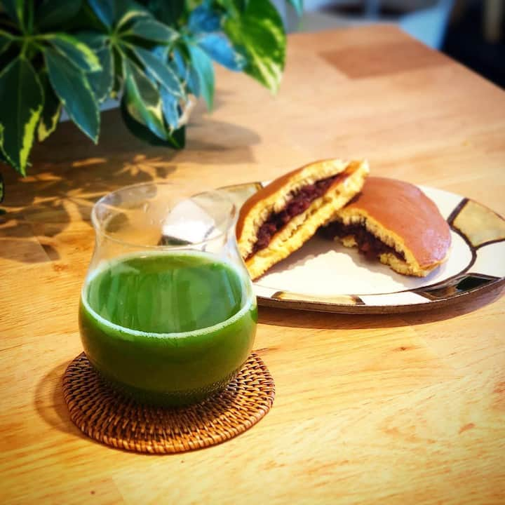 matcha and dorayaki