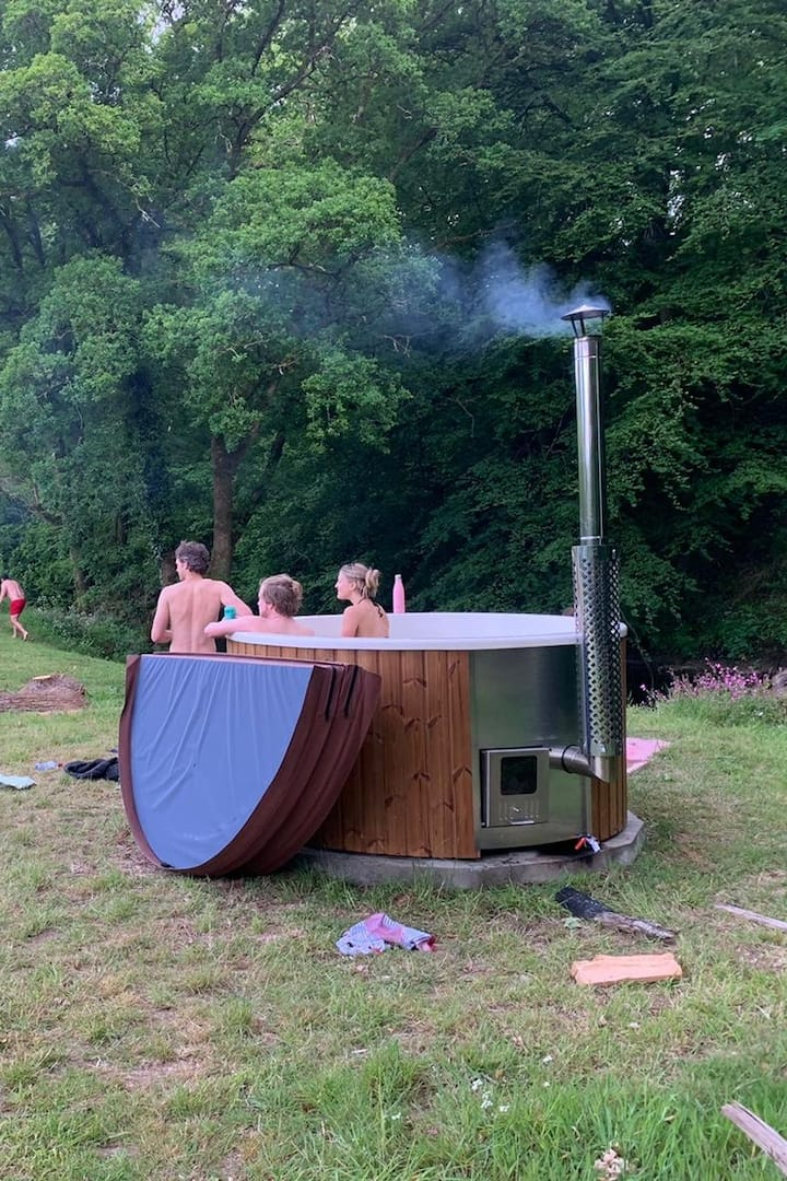 Our Wildswim2sauna base camp