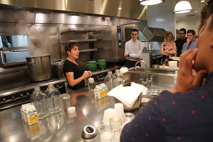 Sheana hosting a class at Bouchon.