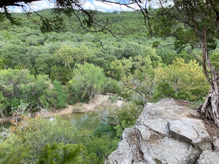 High vista overlooking seasonal creek