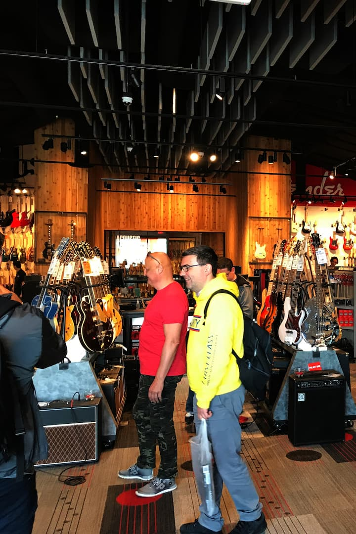 1 of my Tour Groups @ the Guitar Center