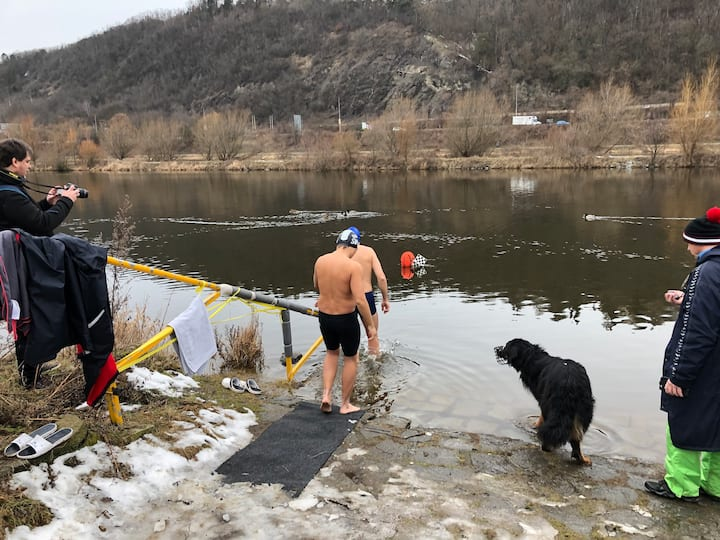 an ice swim in Prague
