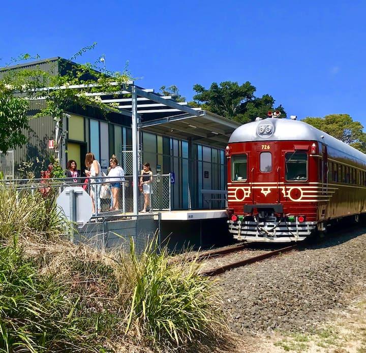 Ride On A Solar Powered Train
