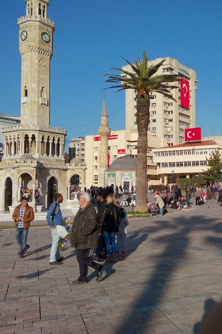 CLOCK TOWER and GREAT KONAK SQUARE