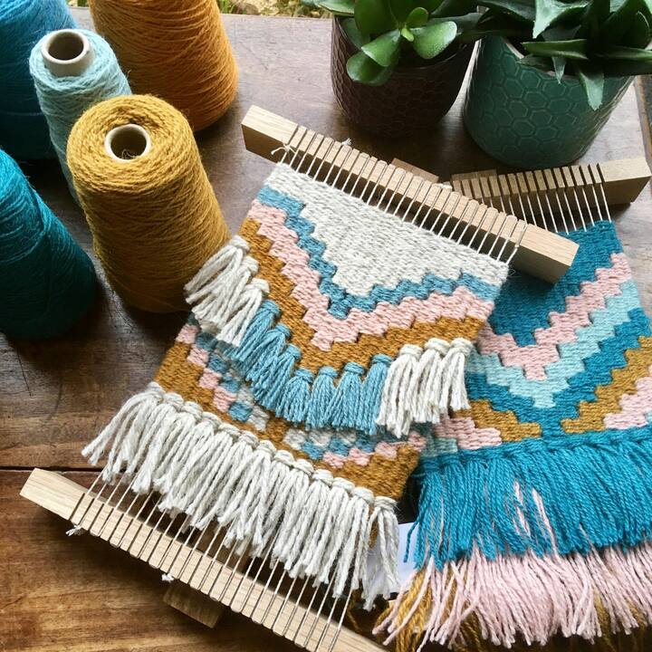 Fringe and knotting techniques.