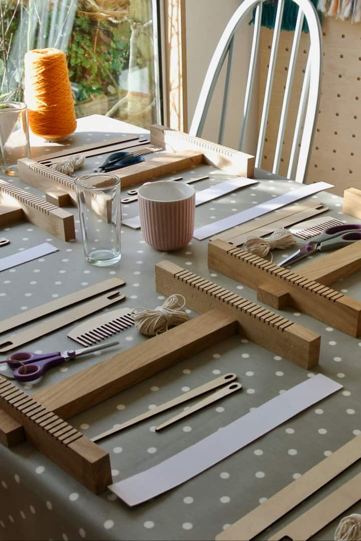 Hand crafted in Cornwall Oak Lap Loom.
