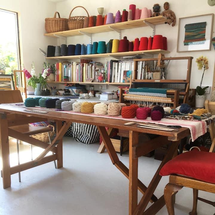 Debbie's weaving textile Studio.