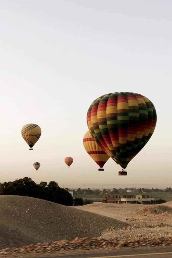 Vol en montgolfière au-dessus de Louxor