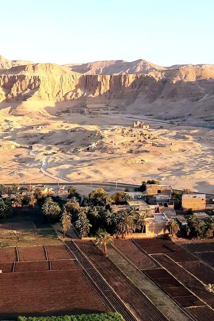 Deir el Bahari (Hatchepsout) vu du ciel
