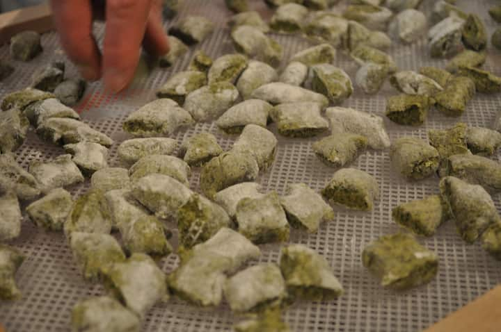 Making green tasteful gnocchi